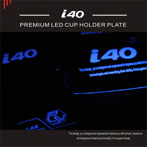 [ i40(saloon) auto parts ] i40 Premium LED Cup Holder Plate