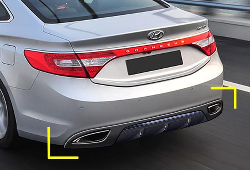 Exterior Car Part Names: Hyundai 2012 AZERA Rear Diffuser Manufacturers,Hyundai