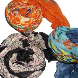 Printed scarves  Made in Korea