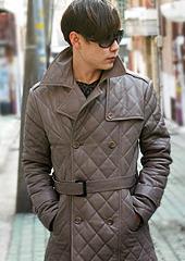 Quilted Half Coat  Made in Korea