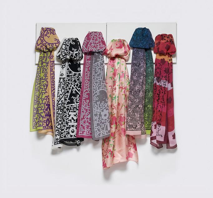 Hangeul Scarf  Made in Korea