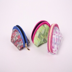 Patchwork wrapping cloth pattern silk quilted coin purse  Made in Korea