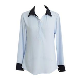 Black edge blouse  Made in Korea