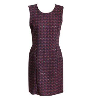 Tweed print dress  Made in Korea