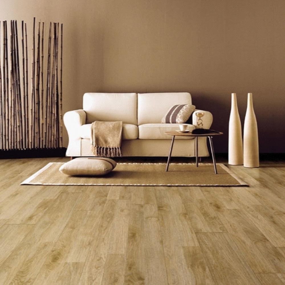Plywood tile floor