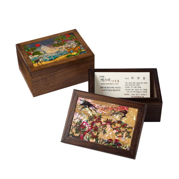 ash wooden name card box  Made in Korea