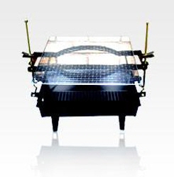 A Height-adjustable Charcoal Grill  Made in Korea