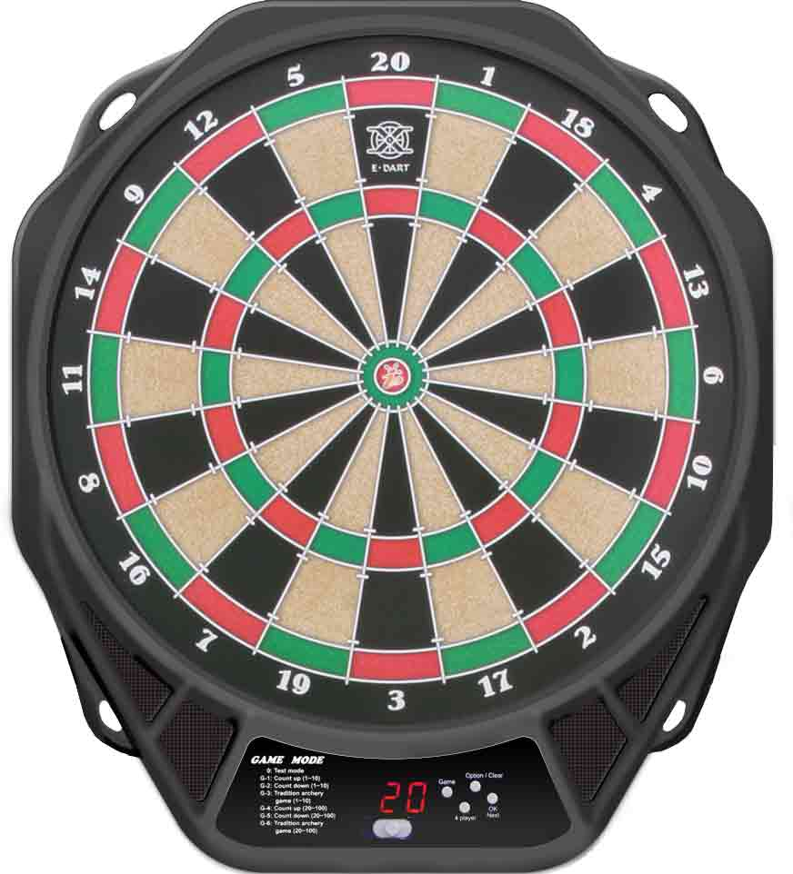 Electronic magnetic dartboard