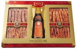 Gold set of sweetened red ginseng (6-year old Korean red ginseng)  Made in Korea