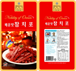 Spicy tuna jerky  Made in Korea