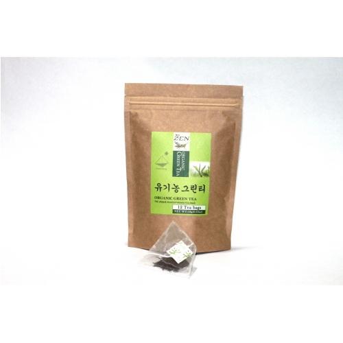 Organic Green Tea Pouch  Made in Korea