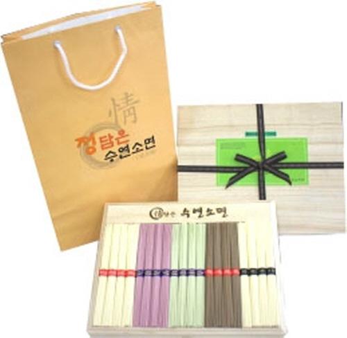 Jeongdameun Five-Color Dried Noodles Gift Set 2kg  Made in Korea