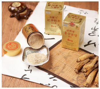 Red ginseng powder gold 100 g/bottle  Made in Korea