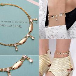 Korea Handmade Fashionable Bracelet & Ankle Bracelet  Made in Korea