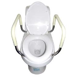 Safe handle for toilet bowl