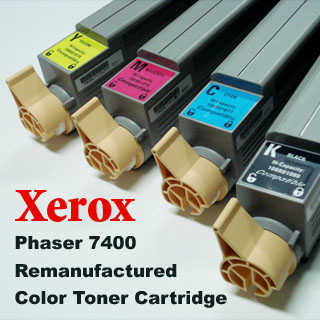 Xerox Phaser 7400 Remanufactured color toner cartridge