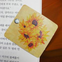 Autobookmark Suji-in : Sunflower  Made in Korea