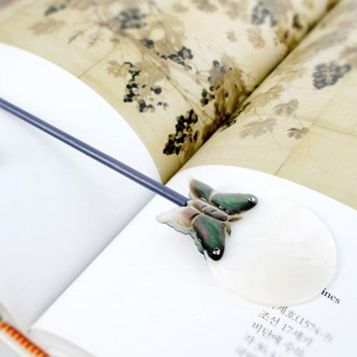 Korea Royal Court Bookmark - Moon & Butterfly  Made in Korea