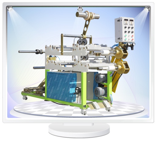 Machinery for Pre-taped masking film  Made in Korea
