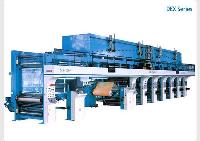 Roto Gravure Printing Machine(for heavy duty-materials)  Made in Korea