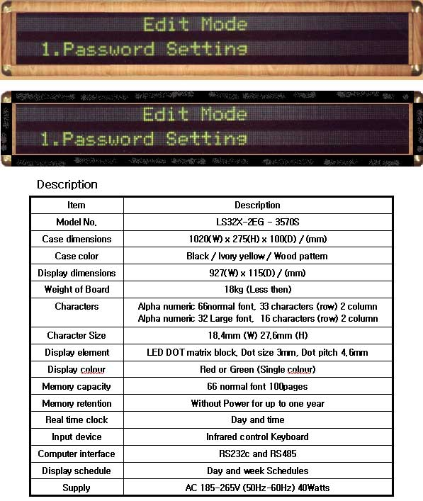 Notice (Model LS32X-2EG-3570S)
