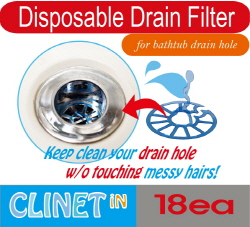 CLINET_iN(Disposable hair catcher for bathtub drain)  Made in Korea