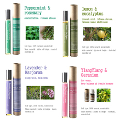 Roll-on aromatherapy, massage, oils, essential oil, reflexology, natural oils, aroma oils  Made in Korea
