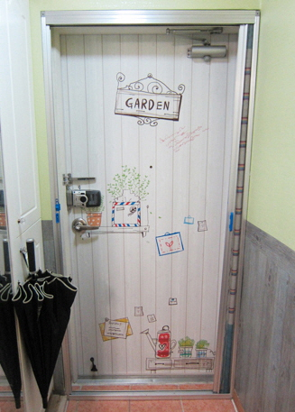 Wall stickers for the front door  Made in Korea